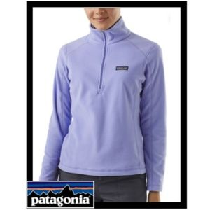 NWT Patagonia 1/4 Zip Fleece in Lilac